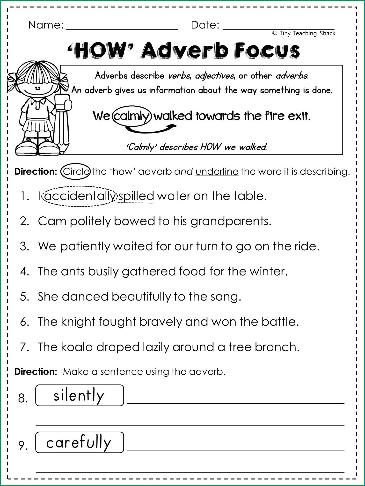 3rd Grade Adjectives And Adverbs Worksheet