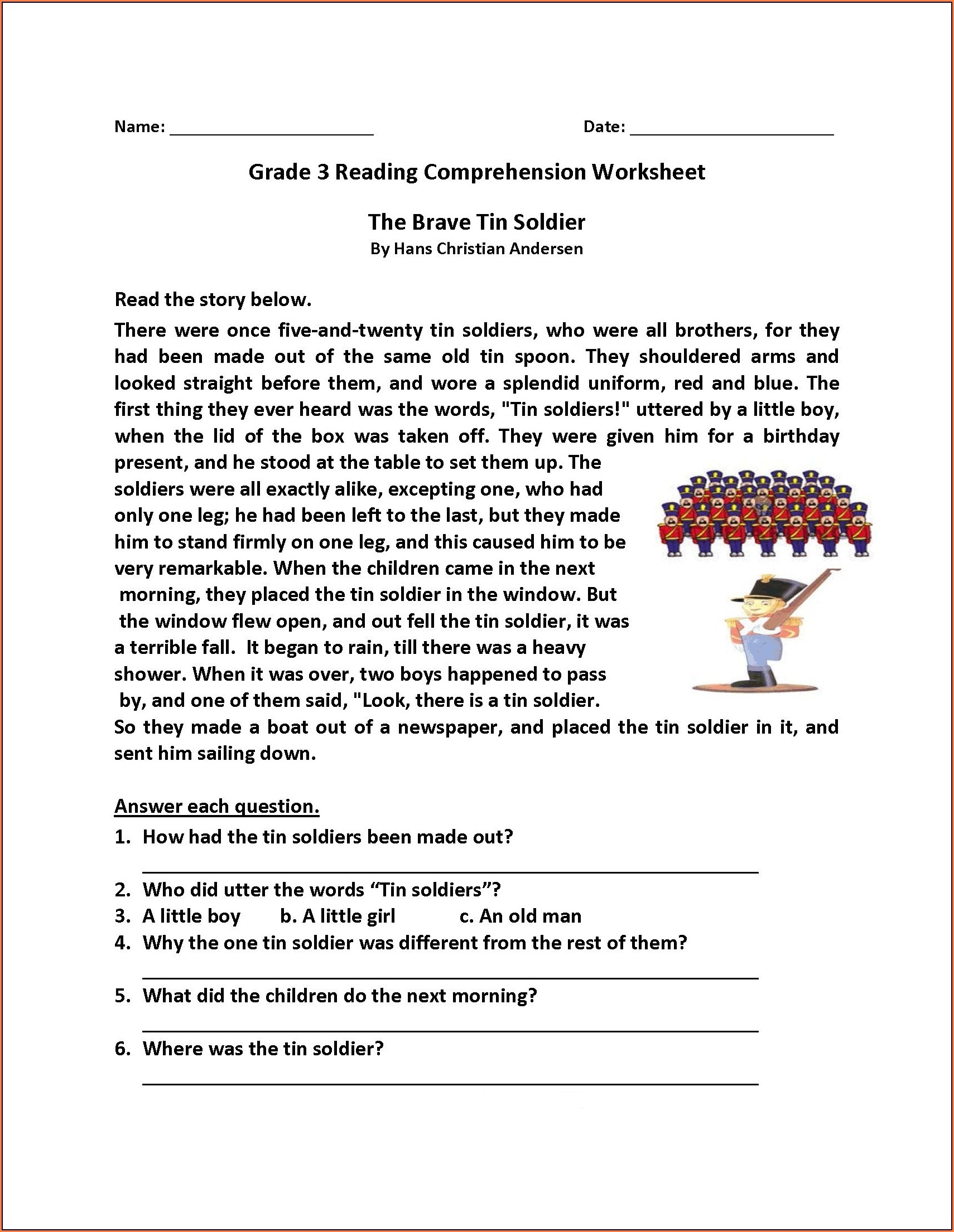 hight resolution of Main Idea Worksheet For Grade 4   Printable Worksheets and Activities for  Teachers