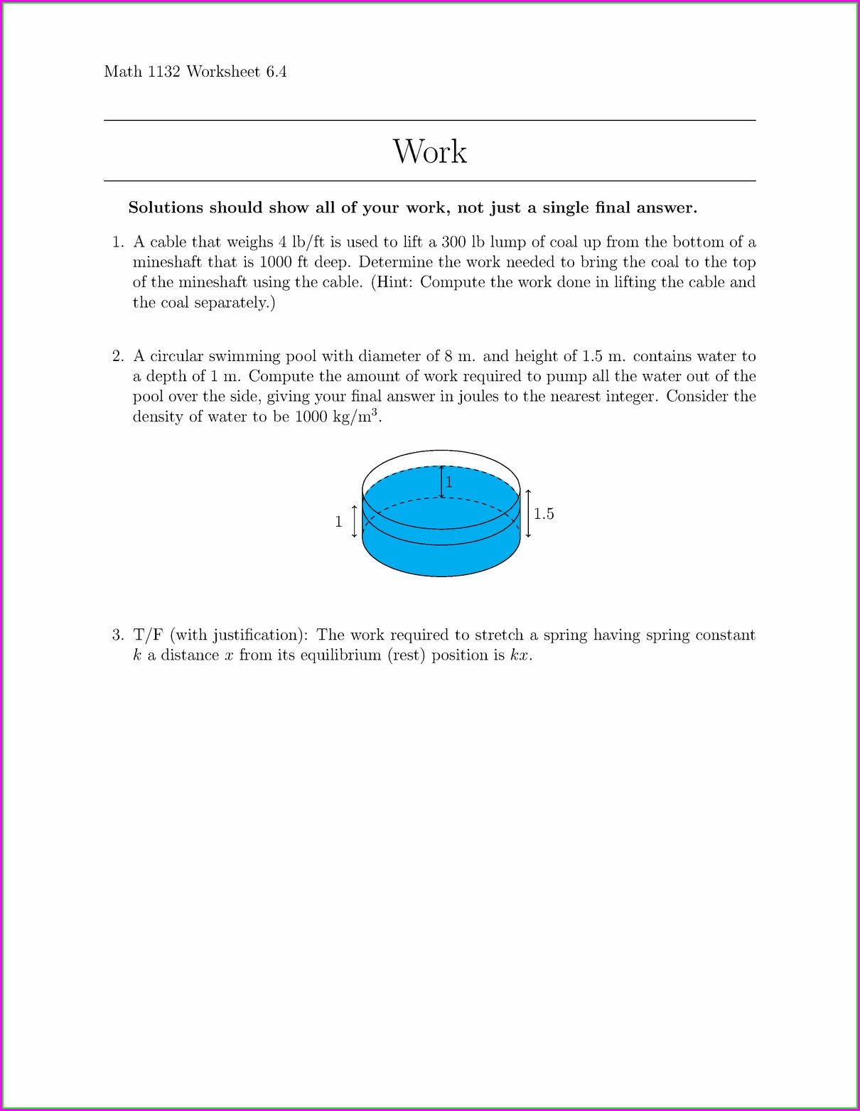 Moving Words Math Worksheet Answers