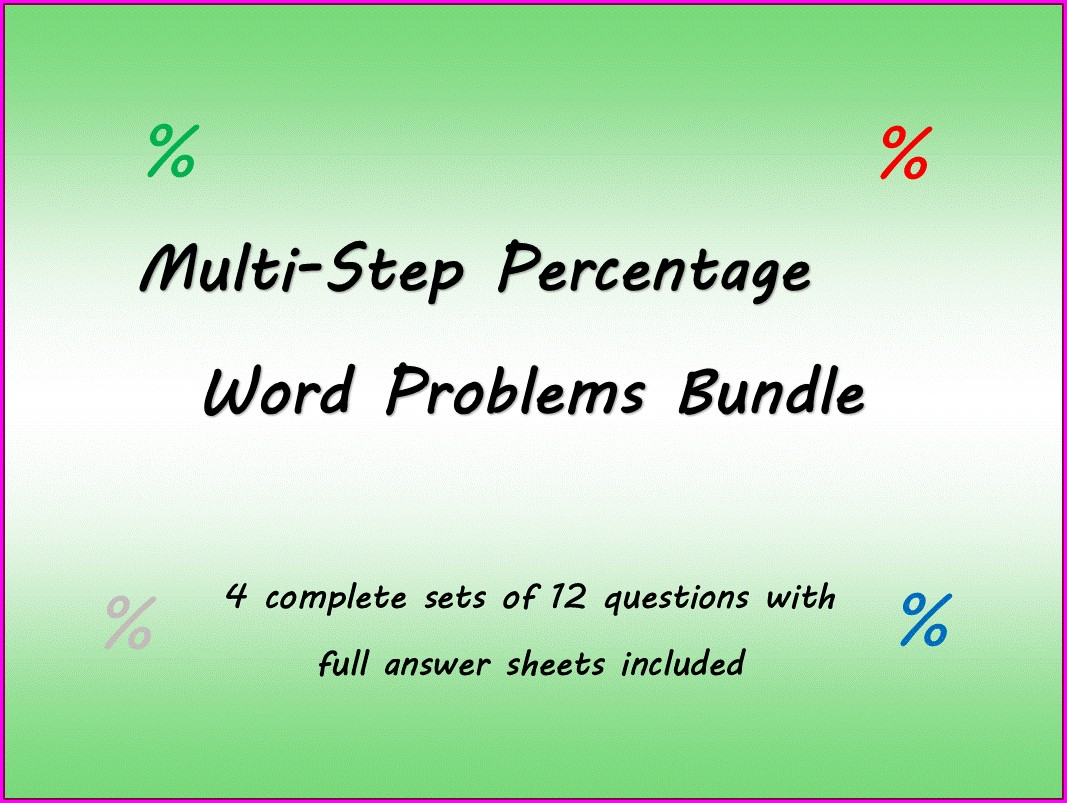 Systems Of Equations Word Problems Revisited