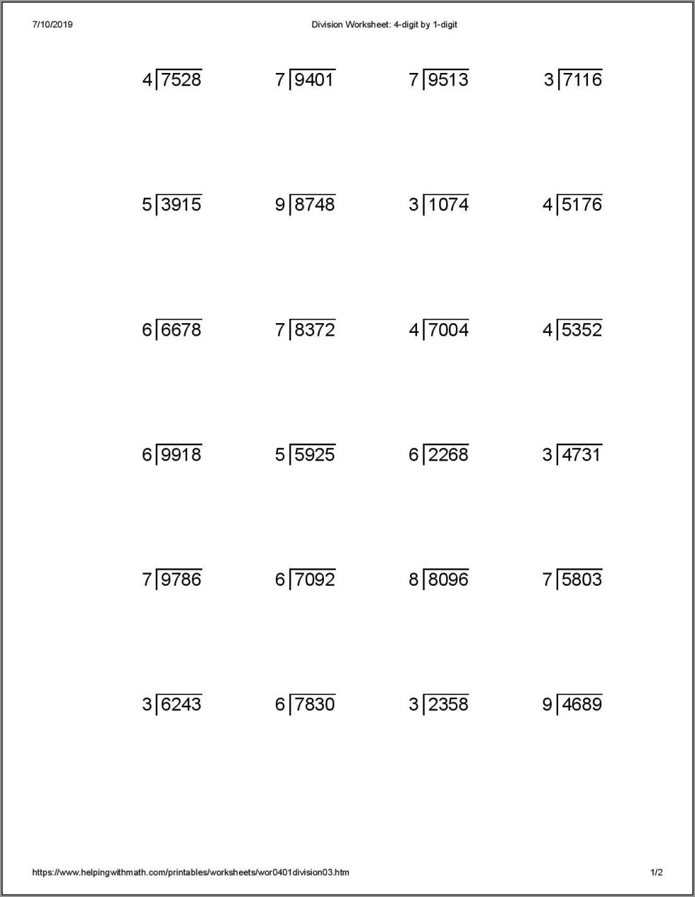 medium resolution of Mental Math Worksheets Class 2   Printable Worksheets and Activities for  Teachers
