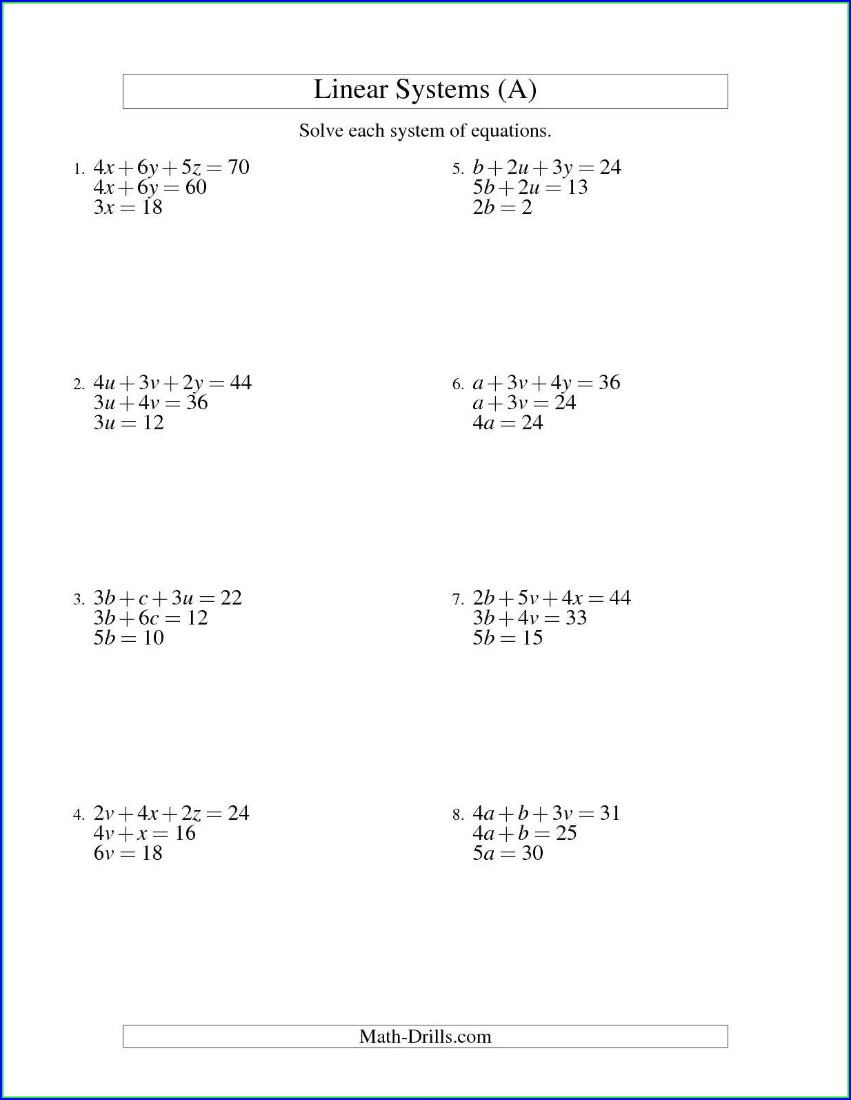 Answer Key Solving Equations And Inequalities Worksheet