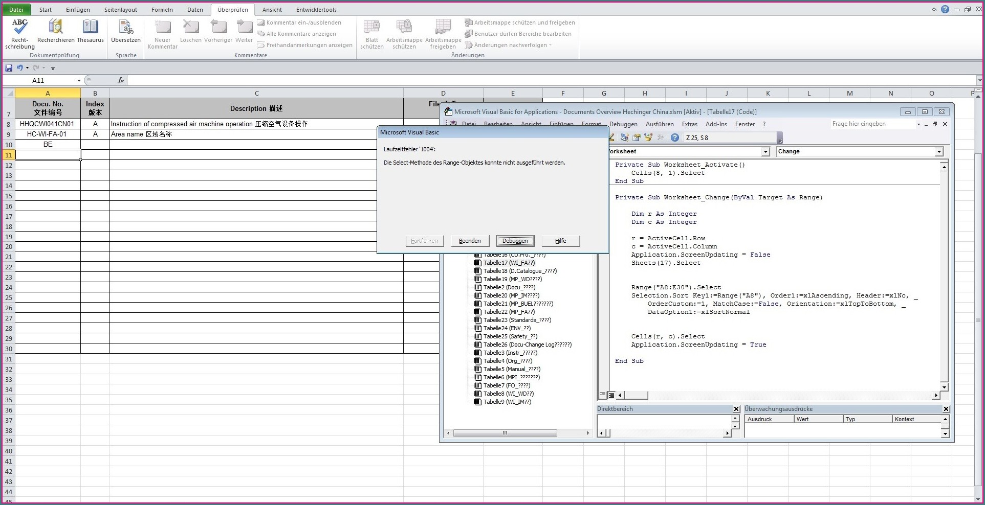 Sort Excel Worksheet Using Vba