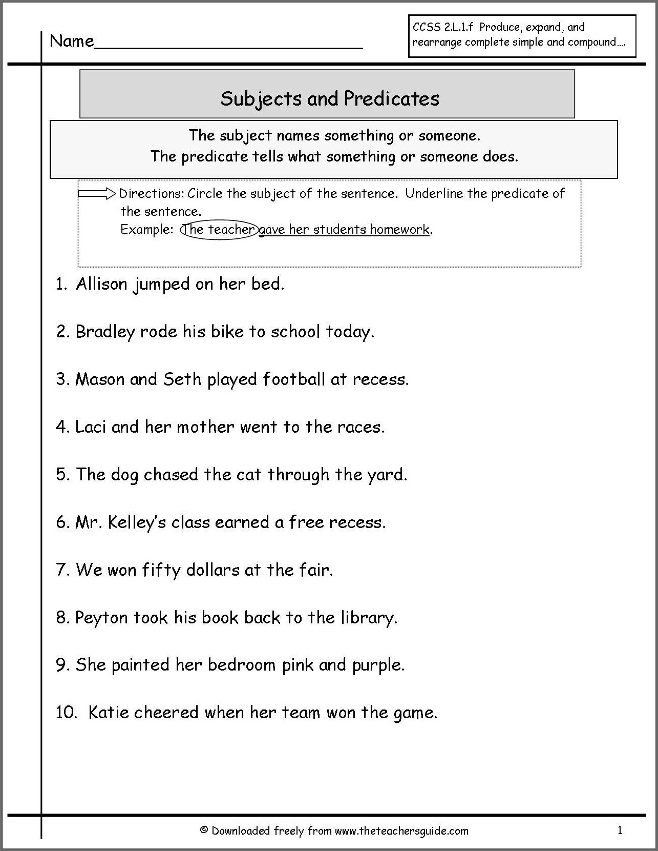 hight resolution of Subject Verb Agreement Worksheet 6th Grade   Printable Worksheets and  Activities for Teachers