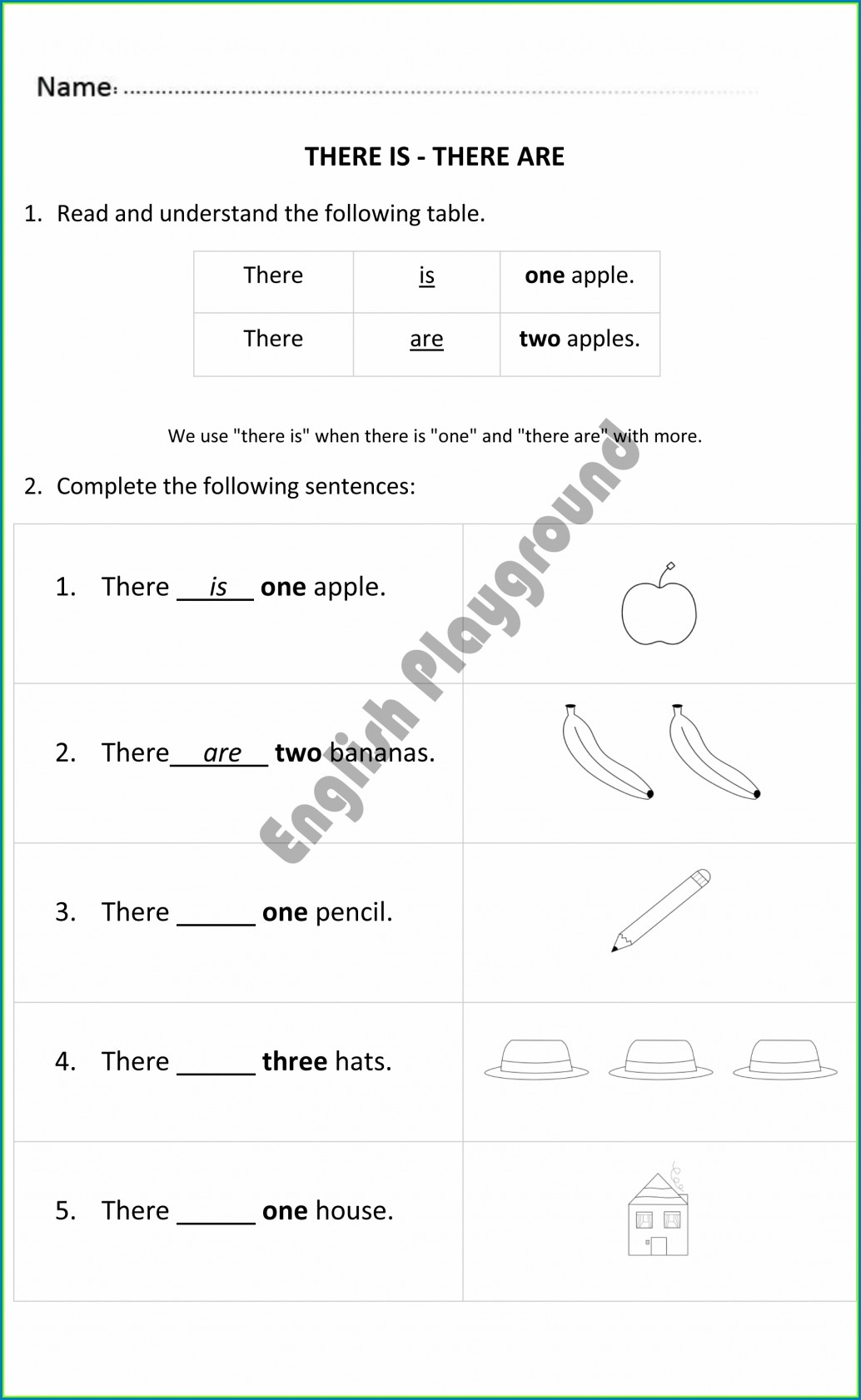 English Worksheet Used To