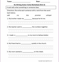 Irregular Verbs Worksheets For Grade 2   Printable Worksheets and  Activities for Teachers [ 2210 x 1710 Pixel ]