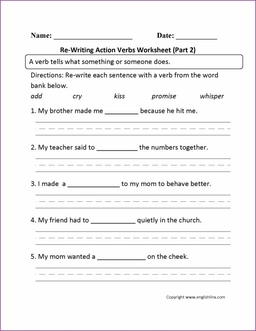 small resolution of Irregular Verbs Worksheets For Grade 2   Printable Worksheets and  Activities for Teachers