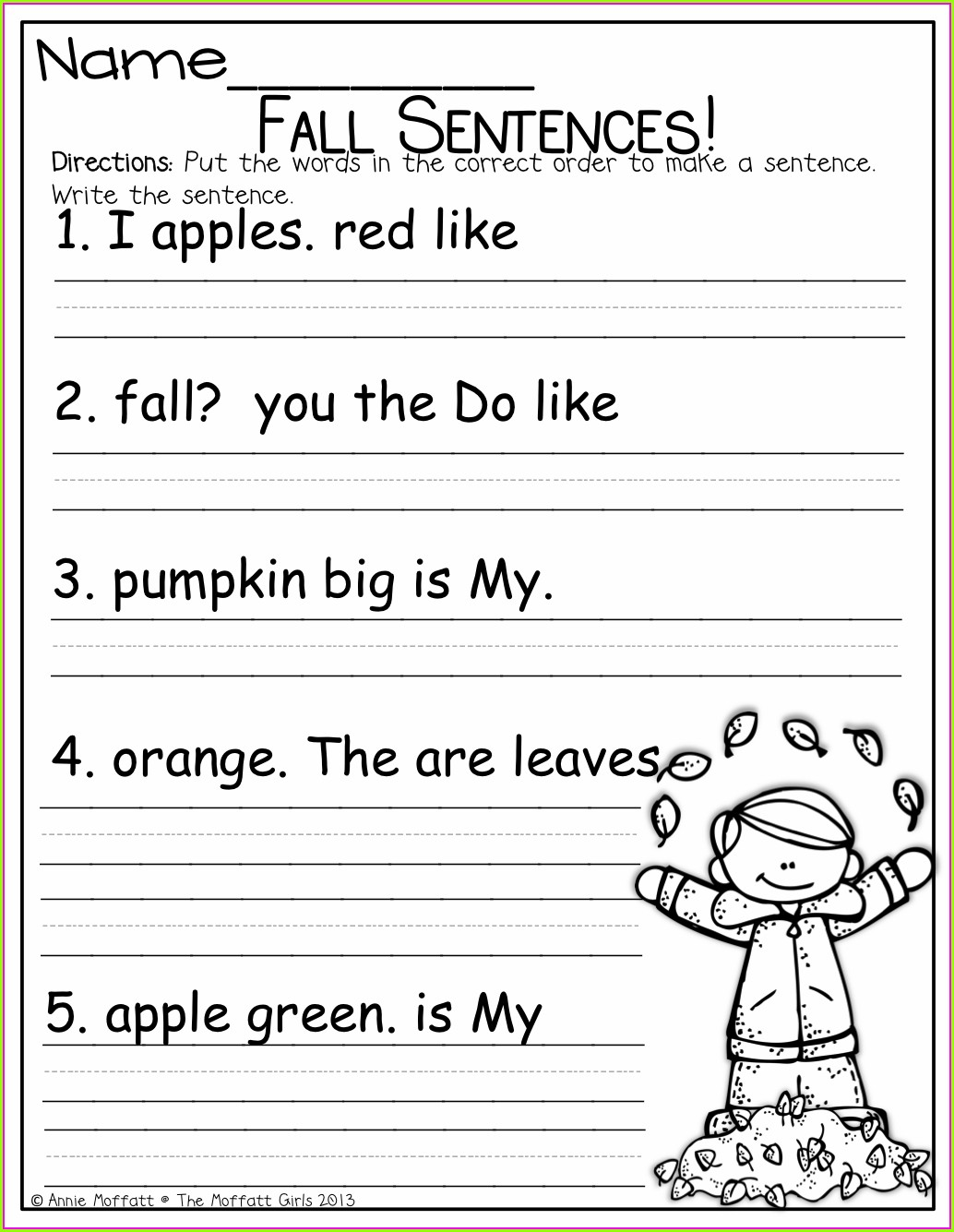 Worksheet In English For Grade 1