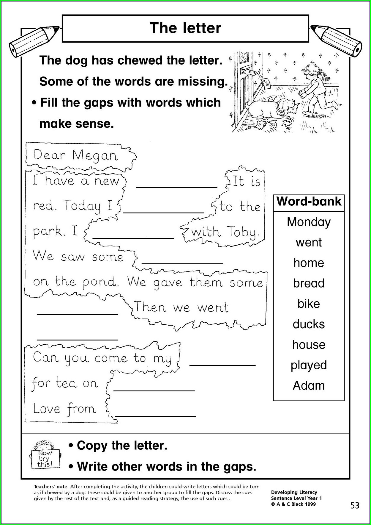 Writing Worksheet For Toddlers