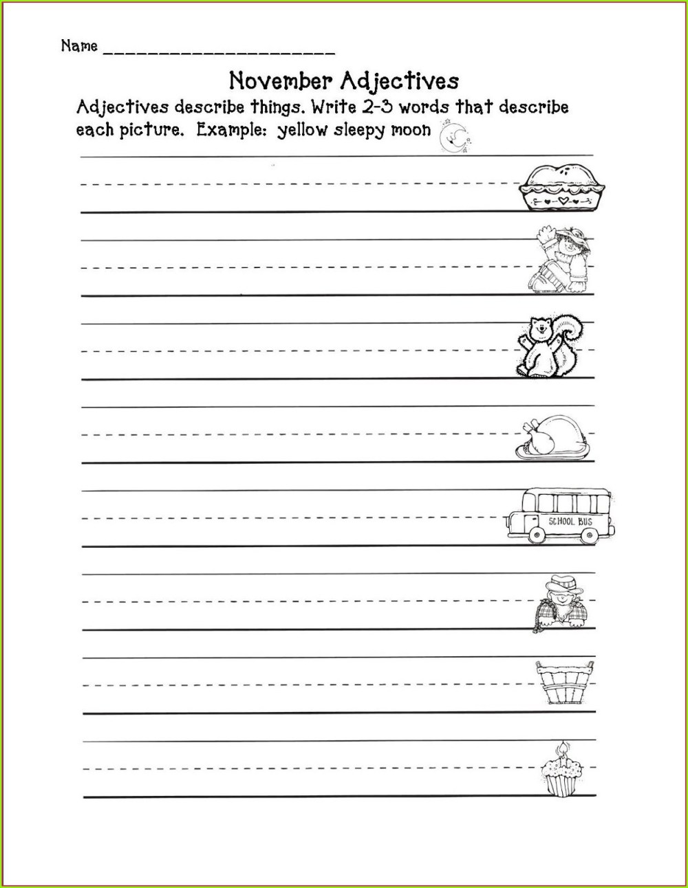 medium resolution of Descriptive Adjectives Worksheet 3rd Grade   Printable Worksheets and  Activities for Teachers