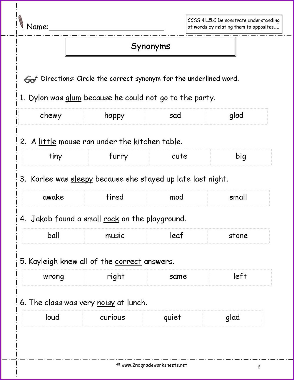 medium resolution of Antonyms Worksheet Grade 7   Printable Worksheets and Activities for  Teachers