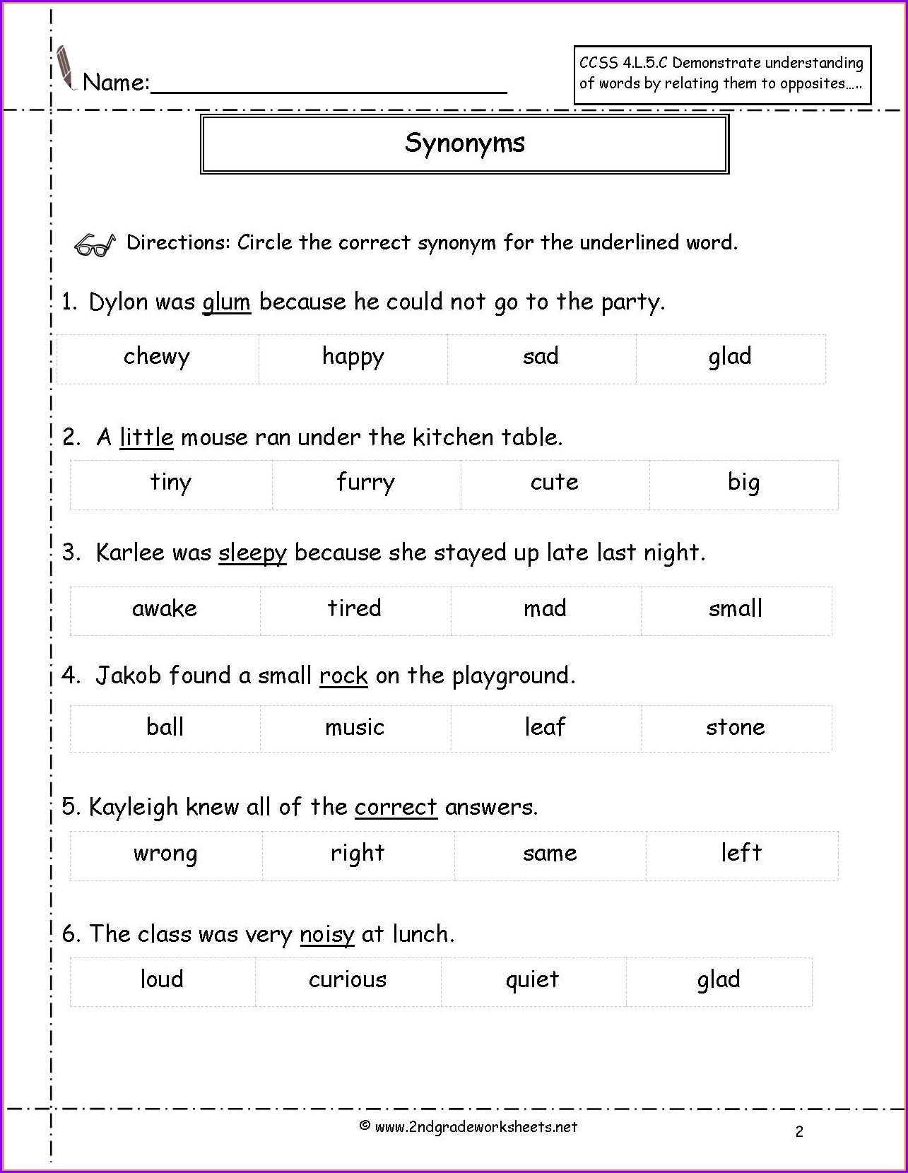 hight resolution of Antonyms Worksheet Grade 7   Printable Worksheets and Activities for  Teachers
