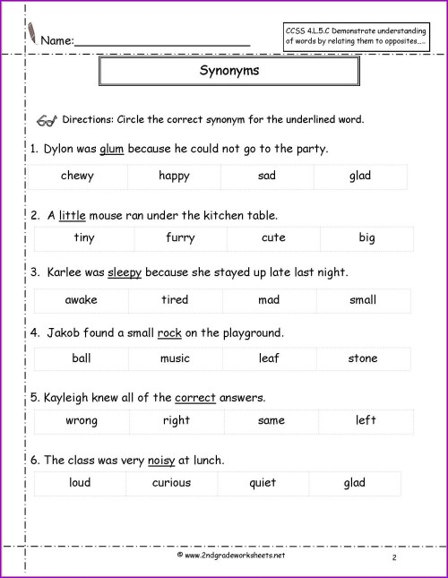 small resolution of Antonyms Worksheet Grade 7   Printable Worksheets and Activities for  Teachers