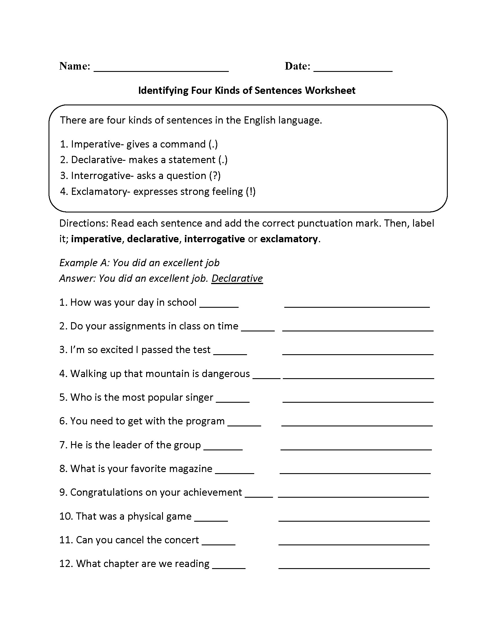 hight resolution of Sentence Correction Worksheets 6th Grade   Printable Worksheets and  Activities for Teachers