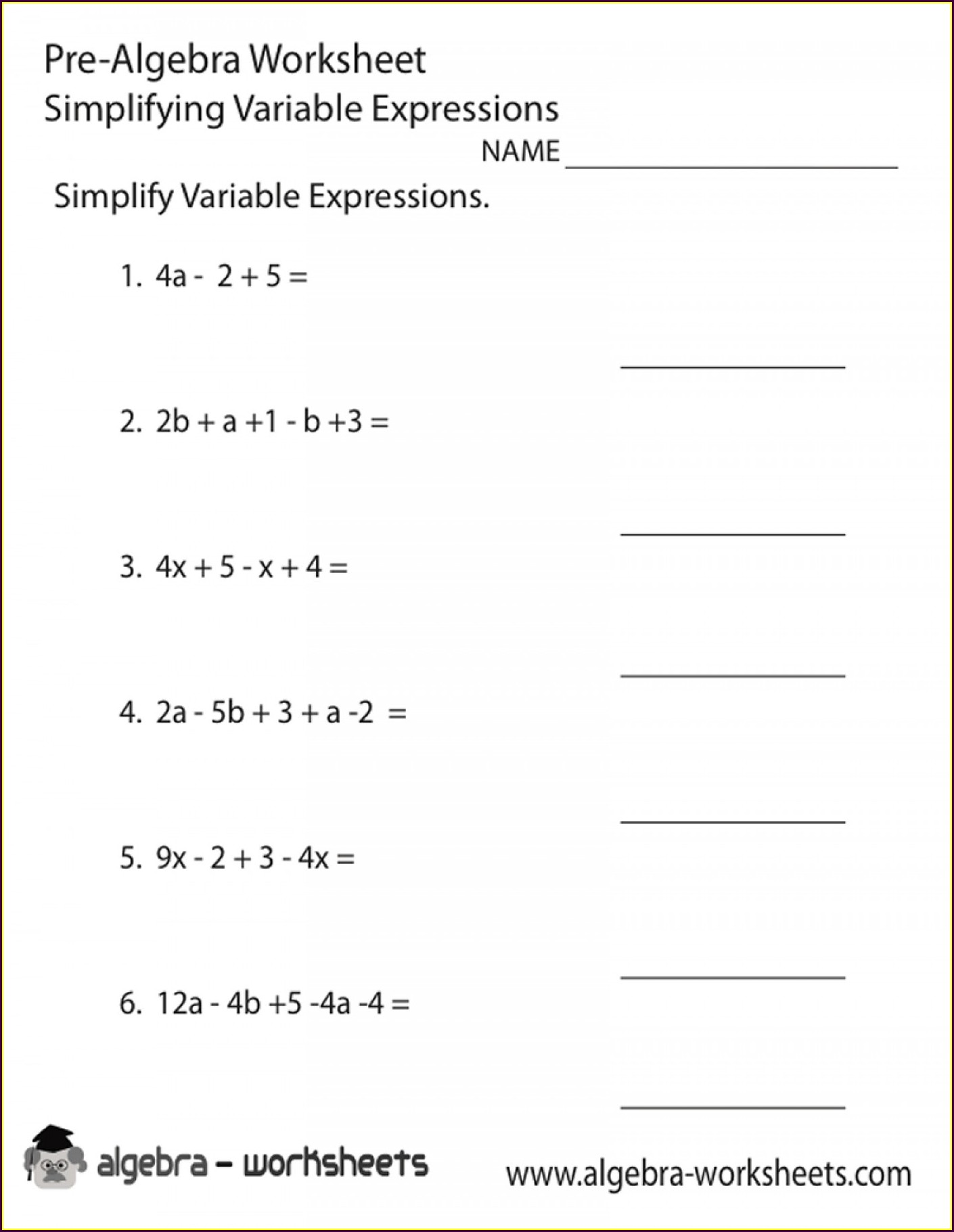hight resolution of 8th Grade Algebra 1 Worksheets   Printable Worksheets and Activities for  Teachers