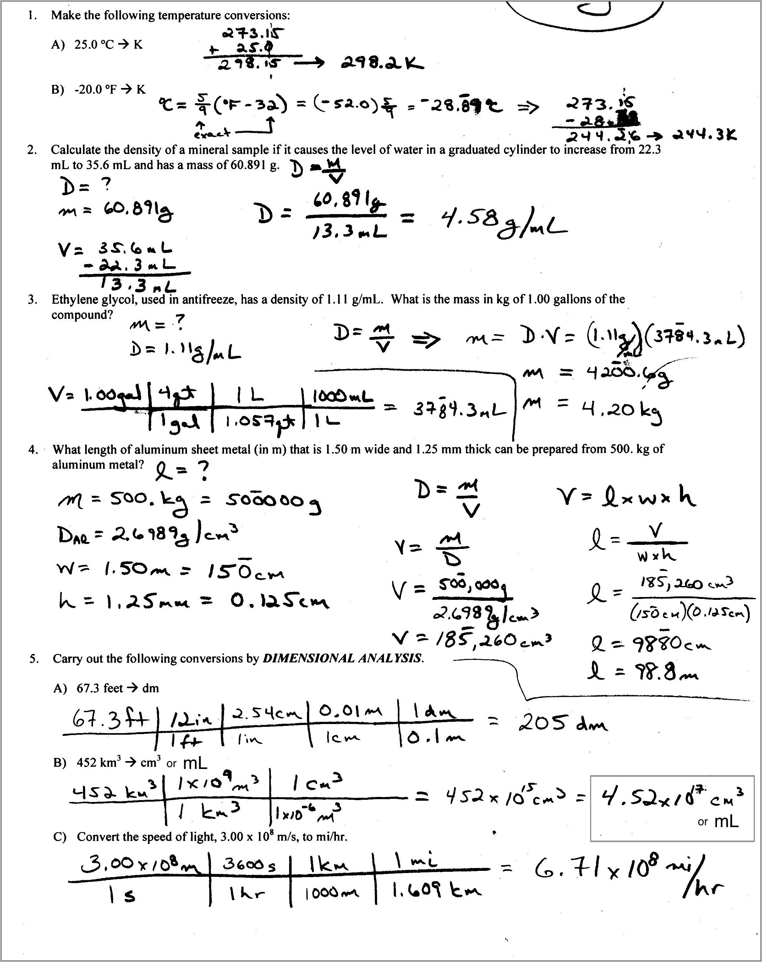 5th Grade Math Worksheets Volume