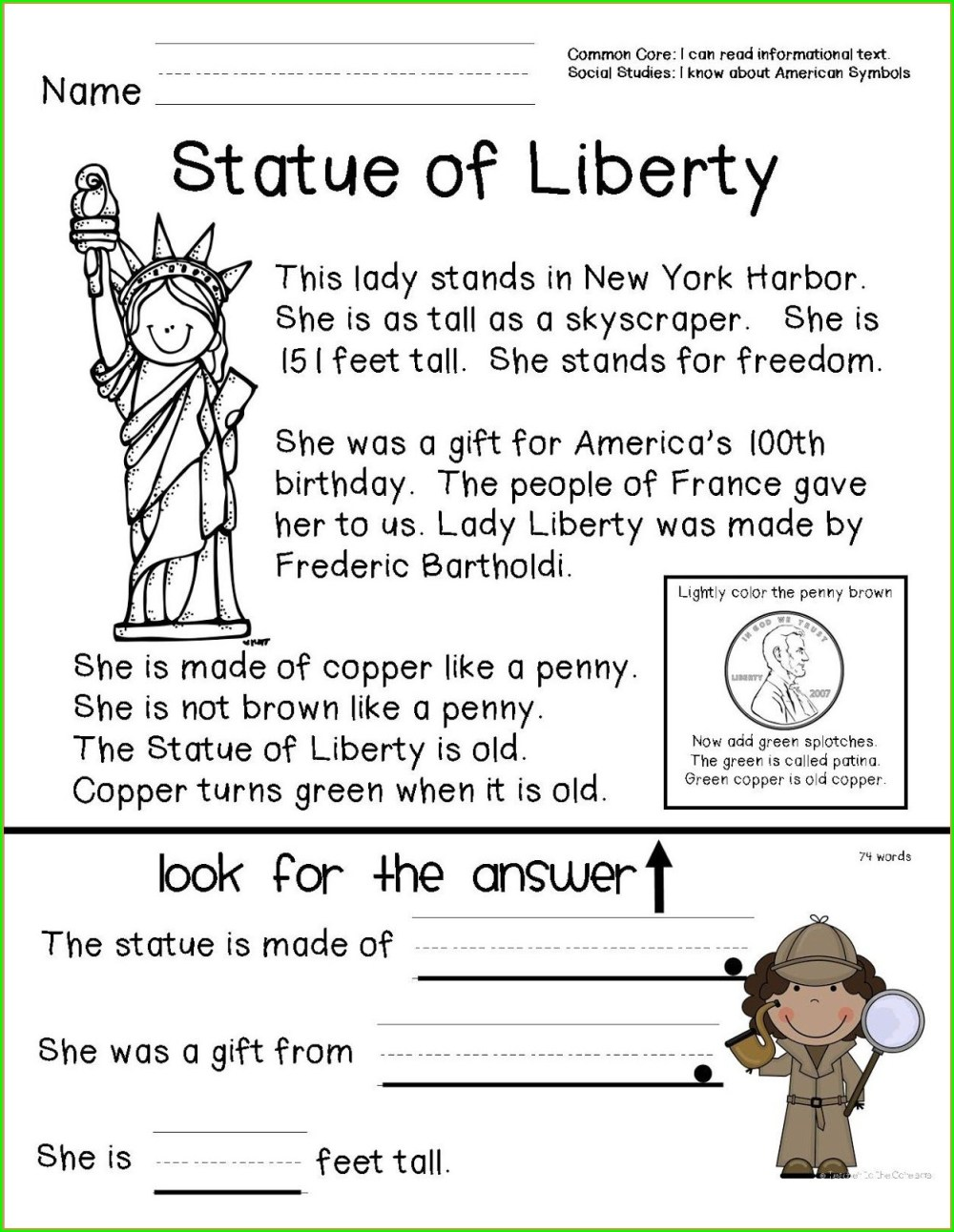 medium resolution of Black History Month 1st Grade Worksheets   Printable Worksheets and  Activities for Teachers