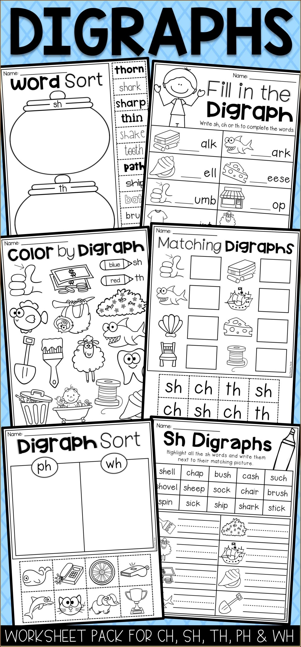 medium resolution of Digraph Ch Worksheets For First Grade   Printable Worksheets and Activities  for Teachers