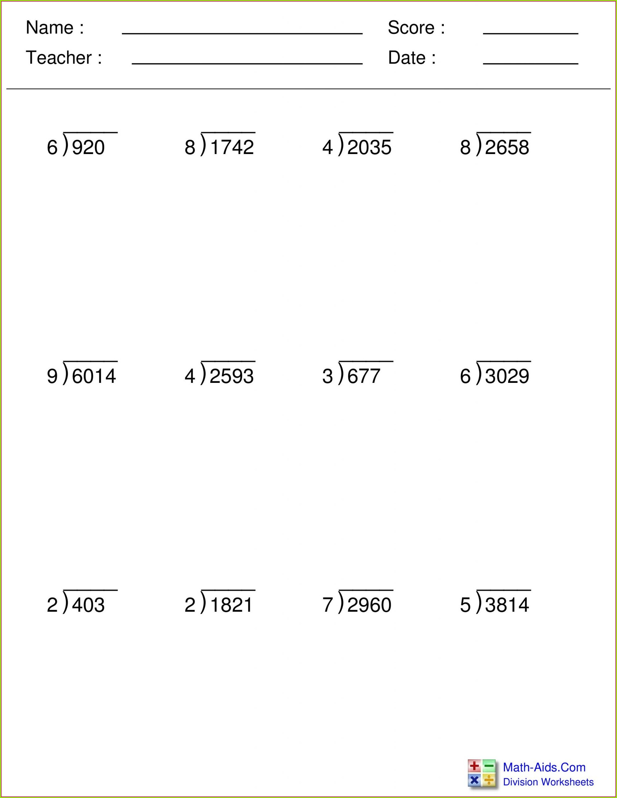 hight resolution of 2 Digit Division No Remainders Worksheets   Printable Worksheets and  Activities for Teachers