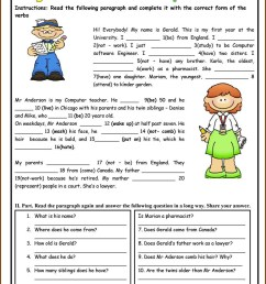45+ Worksheets On Simple Present Tense For Grade 3 Background · Worksheet  Free For You [ 1450 x 1028 Pixel ]