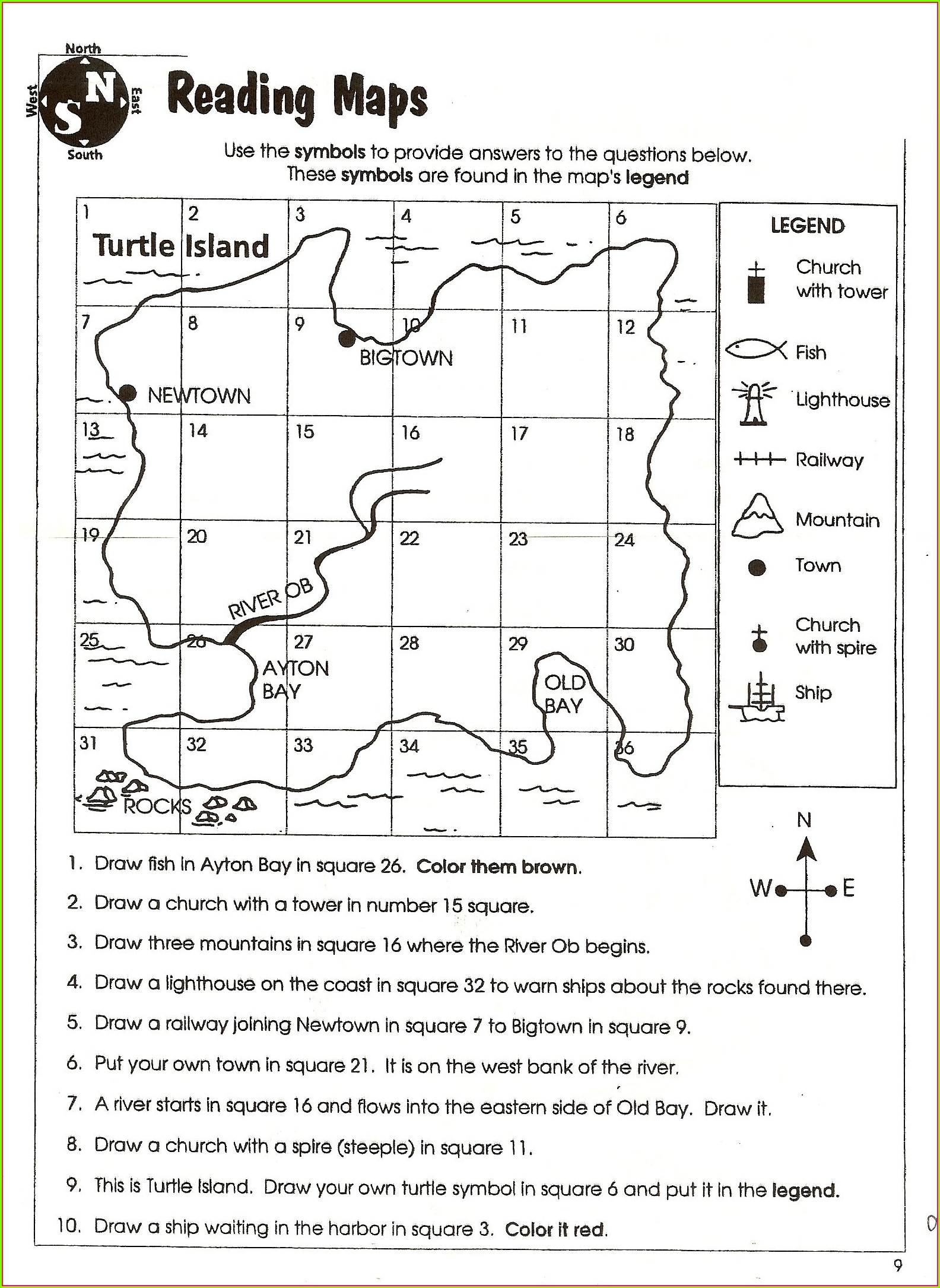 3rd Grade Geography Worksheets