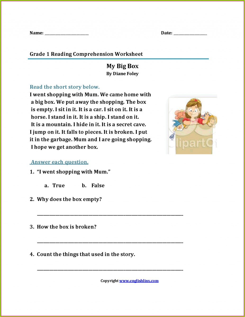hight resolution of Printable First Grade Handwriting Worksheet   Printable Worksheets and  Activities for Teachers
