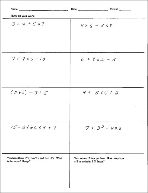 small resolution of Integers Class 6 Worksheet   Printable Worksheets and Activities for  Teachers