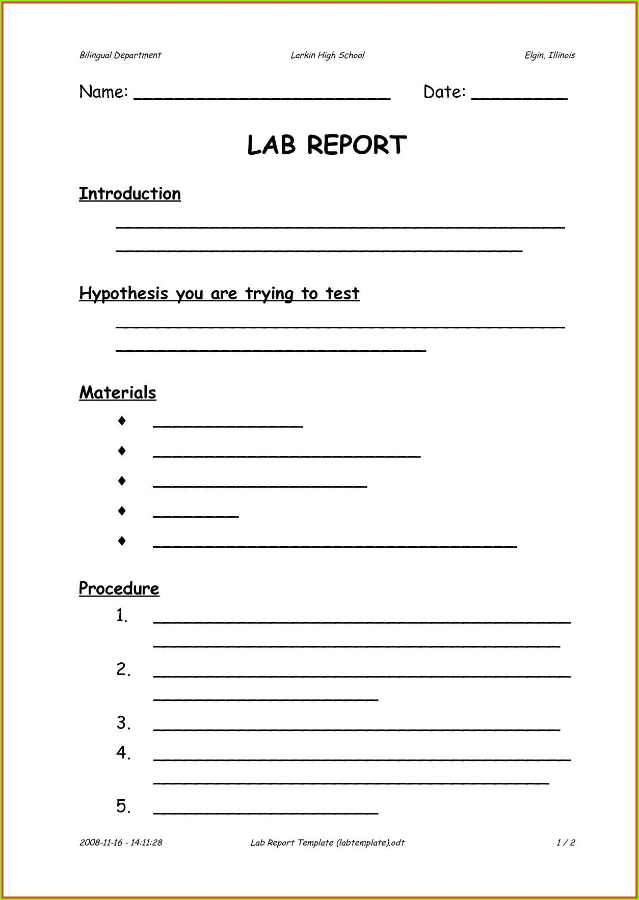 9th Grade Scientific Method Worksheet High School