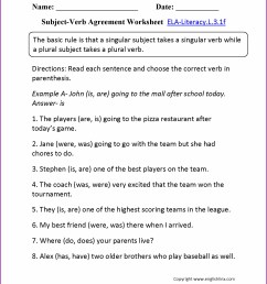 Verb Agreement Worksheet   Printable Worksheets and Activities for  Teachers [ 2210 x 1710 Pixel ]