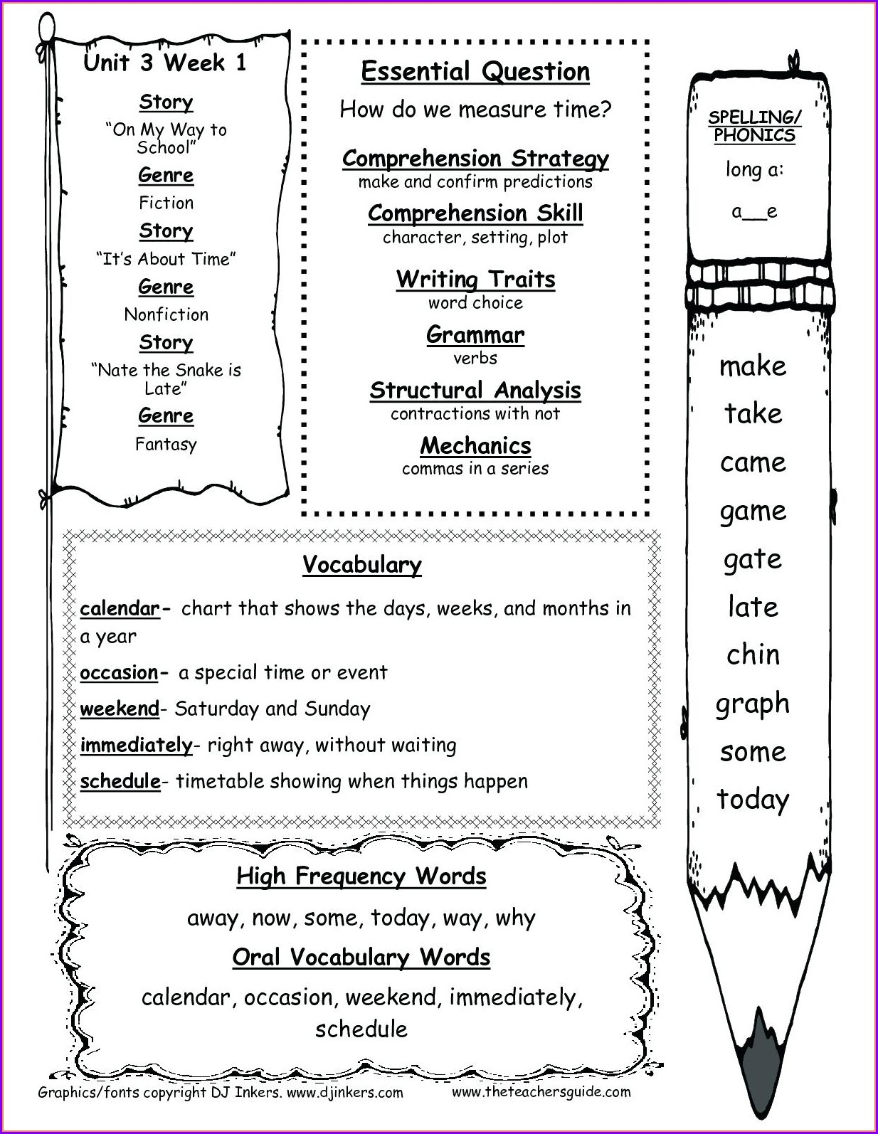 Microsoft Excel Vocabulary Worksheet