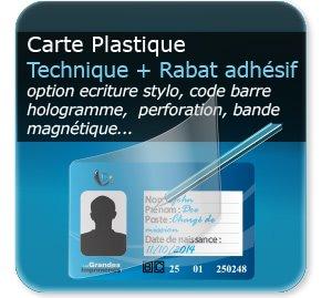 Carte de fidélité avec protection volet plastique