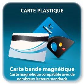 carte de fidelite avec bande magnétique