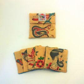 Lingette lavable sailor tattoo tea