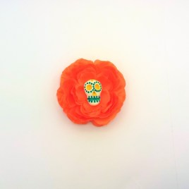 Barrette mexicaine renoncule orange