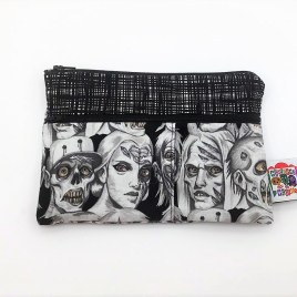 Trousse double zip zombies