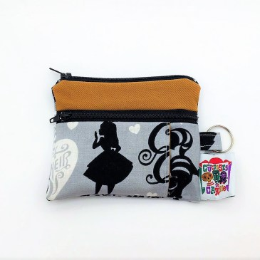 Porte monnaie double zip Disney Alice