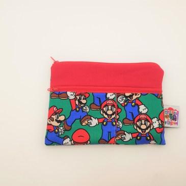Trousse double zip Mario