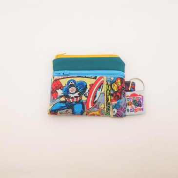 Porte monnaie double zip Marvel superhéros
