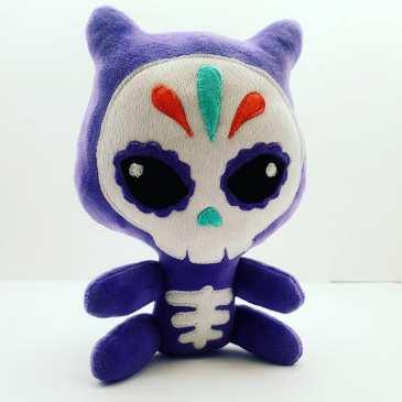 Peluche Chat Squelette violet