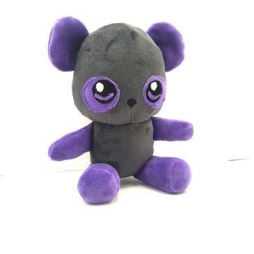 Peluche Ours gris et violet