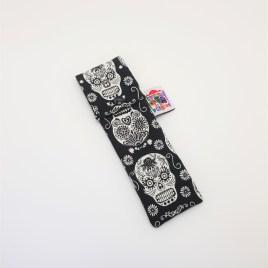 Pochette brosse à dents têtes de mort mexicaines phosphorescentes