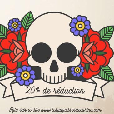 20% de réduction dur tout le site jusqu'au 18/12/2020