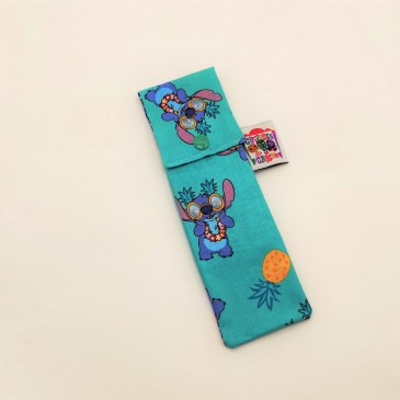 Pochette brosse à dents Stitch fond bleu