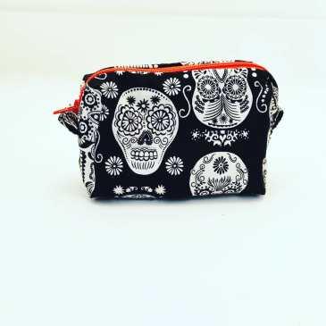 Porte monnaie têtes de mort mexicaines phosphorescentes