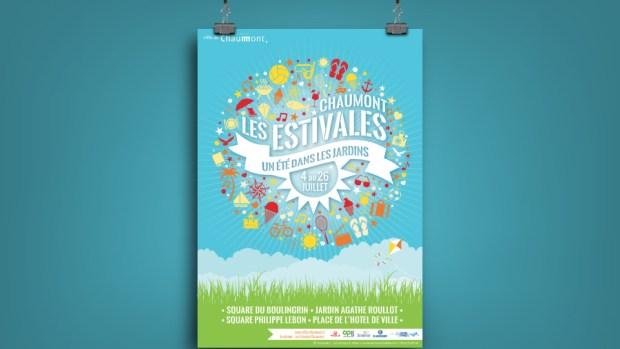 Affiche Estivales Chaumont 2015