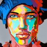 Visage pop art peint par Jair Herculano