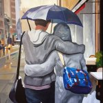 peinture de deux amants de Jair Herculano