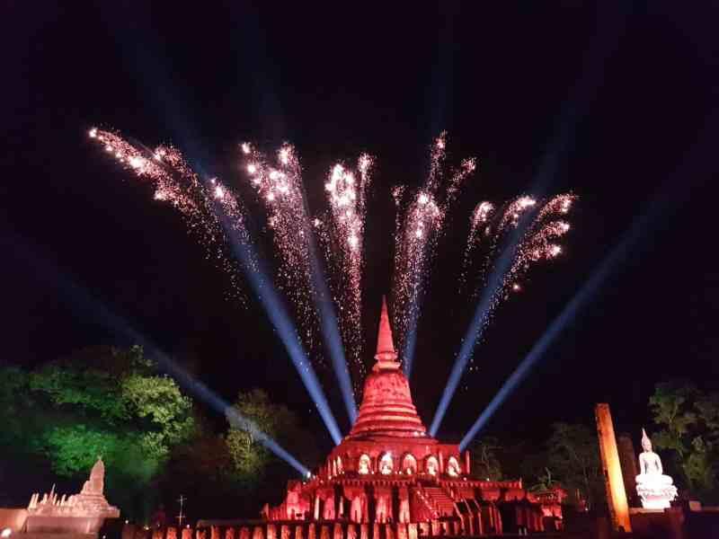 Thaïlande, festival de Si Satchanalaï🎆 19