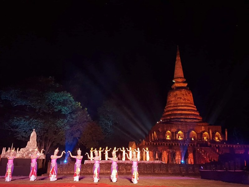 Thaïlande, festival de Si Satchanalaï🎆 21