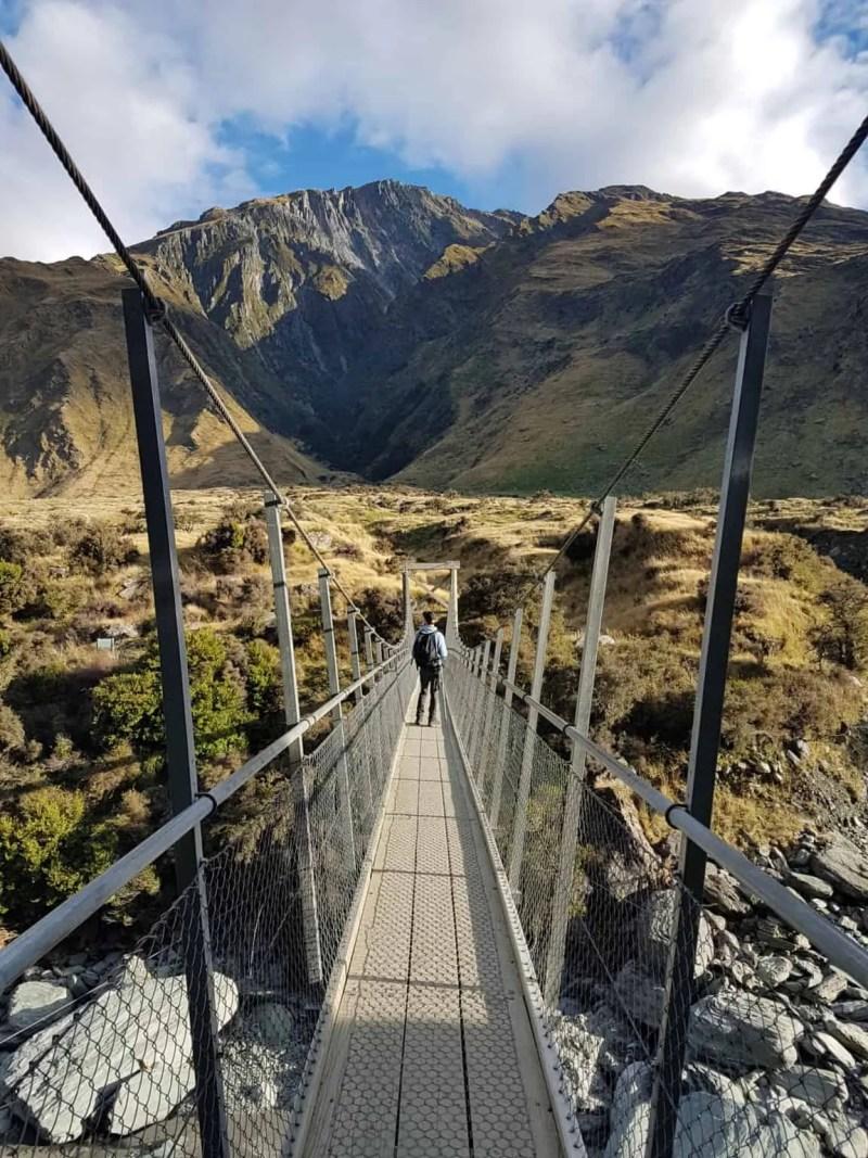 Nouvelle-Zélande, randonnée vers le Rob Roy Glacier et son sommet enneigé ❄ 24